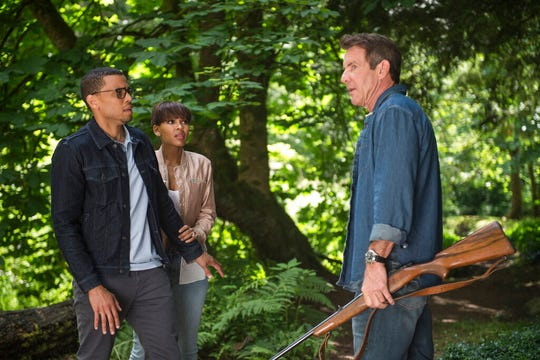 "From left, Michael Ealy, from left, Meagan Good and Dennis Quaid star in  ""The Intruder."" The movie is playing at Regal West Manchester and Frank Theatres Queensgate Stadium 13."