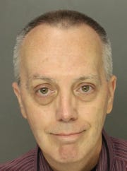 This photo taken Wednesday, May 1, 2019, by the Lancaster County, Pa., District Attorney's office shows Dr. William R. Vollmar, a Pennsylvania sports medicine doctor. Vollmar, who spent decades working with high school athletes, was charged Wednesday with sexually assaulting five patients, including two minors — one of them in a high school athletic trainer's room. (Lancaster County District Attorney via AP)