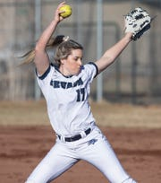 Nevada pitcher Julia Jensen is one of seven Wolf Pack players with a local connection.