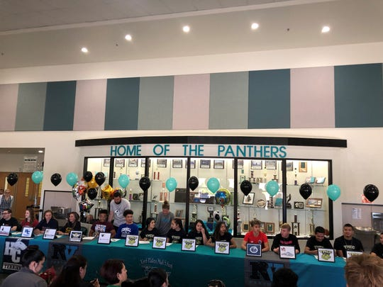 North Valleys had 15 students sign for college athletics on Thursday in a ceremony at the school.