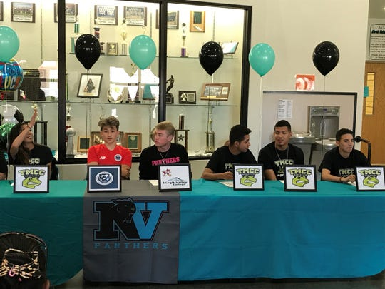 North Valleys had 15 students sign for college athletics on Thursday.