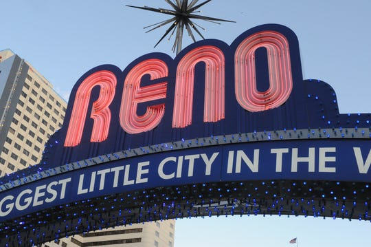 The downtown Reno Arch on May 1, 2019.