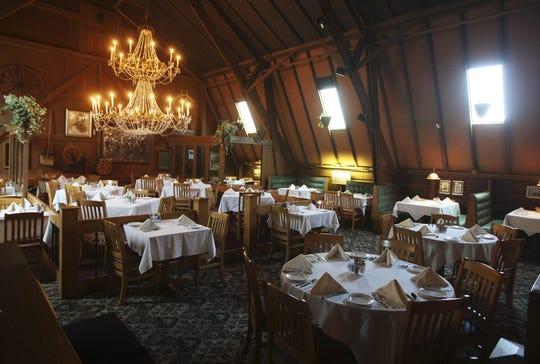 May 5, 2008: The main dining room at Crystal Barn restaurant.