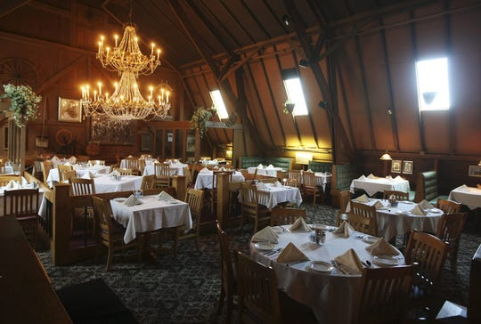 May 5, 2008: The main dining room at Crystal Barn restaurant.