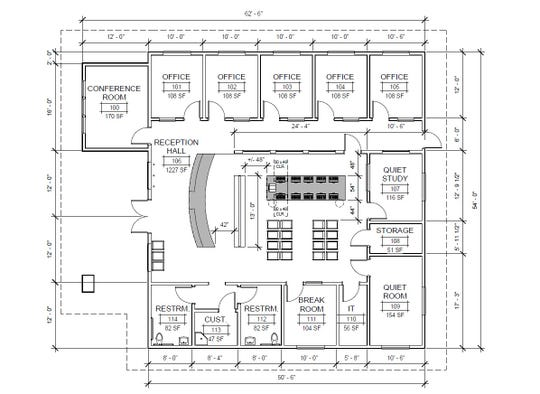 Shasta College's new center for student-veterans will offer services and space to study and hang out. It's projected to open next year.