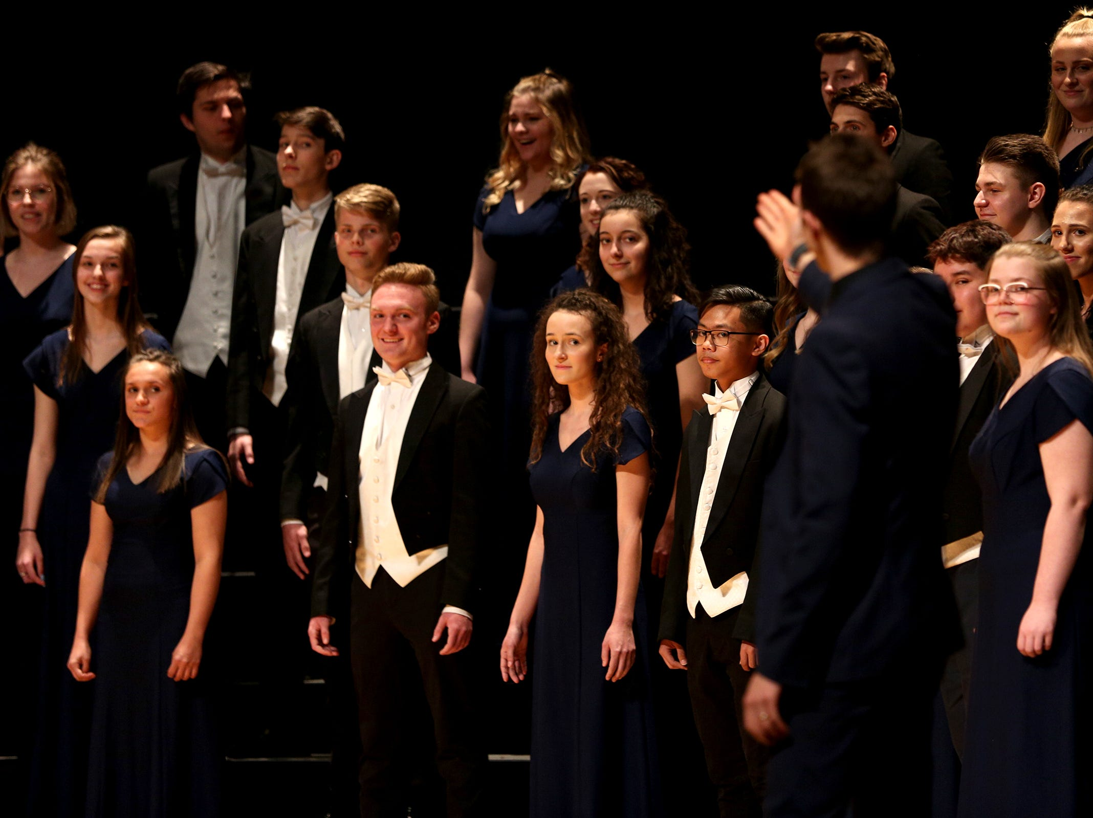 McNary High School's choir, under the direction of Joshua Rist, performs at the OSAA Choir State Championships at Oregon State University in Corvallis on May 1, 2019.