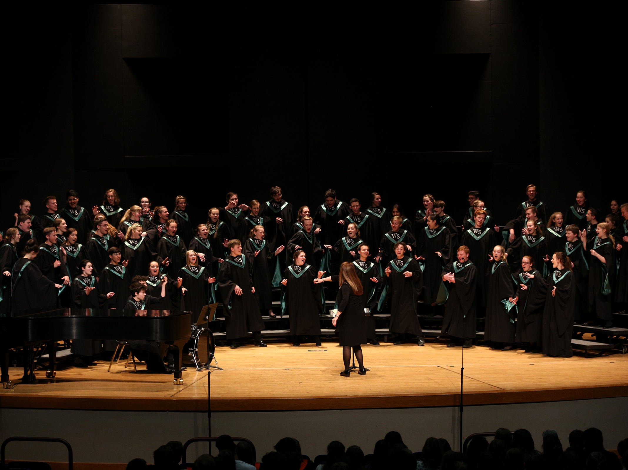 West Salem High School's choir, under the direction of  Kimberly McConnell, performs at the OSAA Choir State Championships at Oregon State University in Corvallis on May 1, 2019.