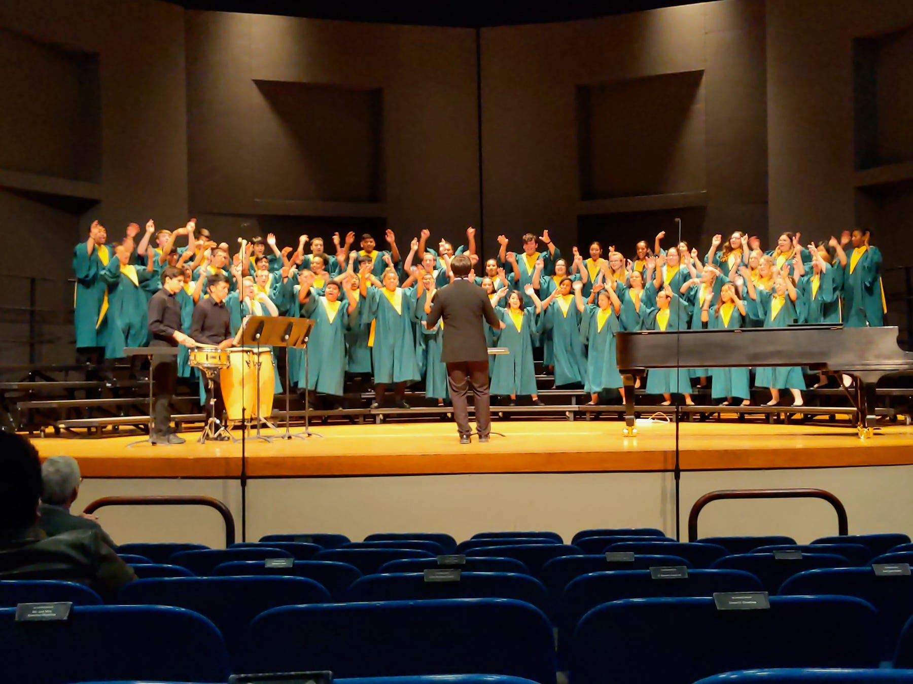 McKay High School's choir, under the direction of Peter Sepulveda, performs at the OSAA Choir State Championships at Oregon State University in Corvallis on May 1, 2019.