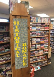 Books are arranged by genre at Rita's Book Exchange on West Beauregard Avenue in San Angelo.