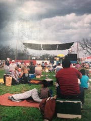 Dark skies preceded a massive downpour which caused the cancellation of a Willie Nelson concert to benefit Barbara Edwards and Ted Westover in March of 1987.