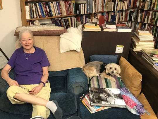 Rita's Book Exchange owner Rita Baker and her faithful companion Lily can be found at 1303 W. Beauregard Ave. in San Angelo.
