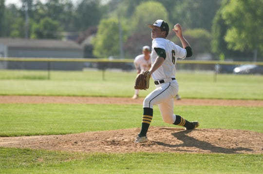 Mardela's Ethan Peterman had 7 strike outs on the mound against Decatur on Wedesnday, May 1, 2019.