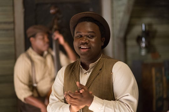 "Breon Pugh, of Shreveport, playing the roll of Willie Warner in the new movie, ""Bolden."""
