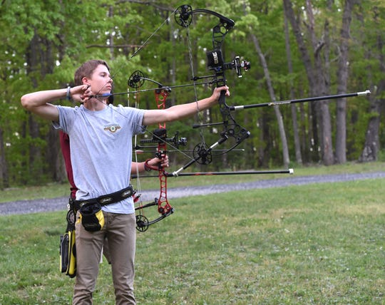 Hunter Campbell, 15, a student at Buffalo Gap High School, is a member of the state 4-H archery team.