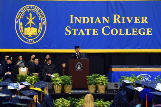 Indian River State College held the first of four spring commencements on Thursday, May 2, 2019, conferring associate of arts degrees. The college will celebrate spring graduates at a later date this year because of the coronavirus pandemic.