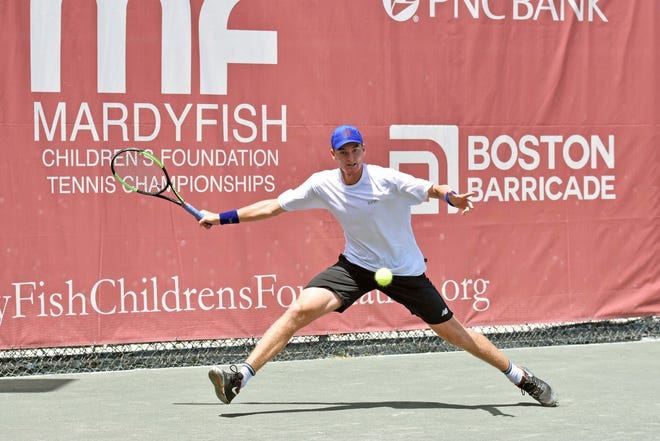 Paul Oosterbaan earned a berth into the Mardy Fish Children's Foundation Championships quarterfinals.