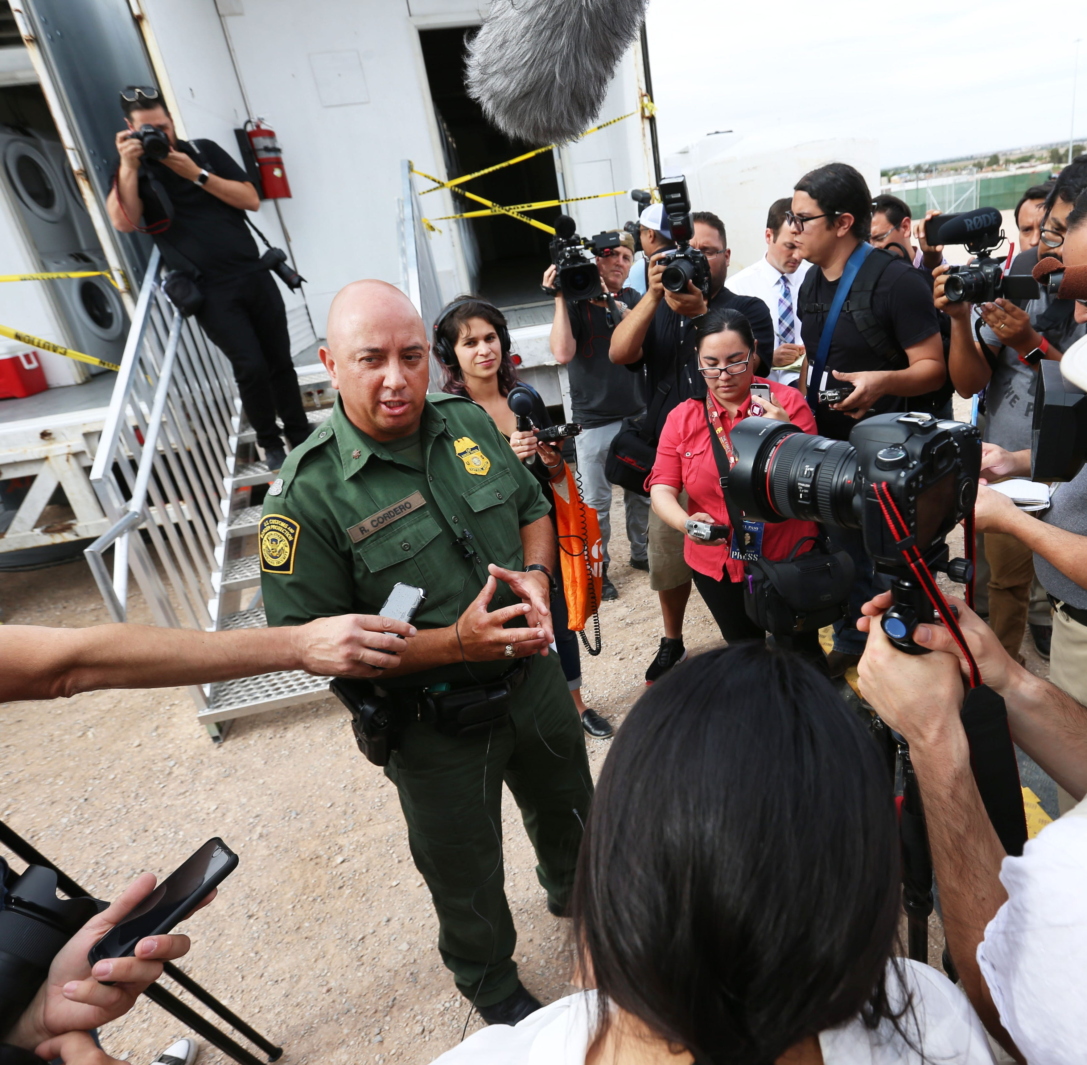 Border Patrol tent shelter for immigrants has baby-changing tables, laundry machines, AC