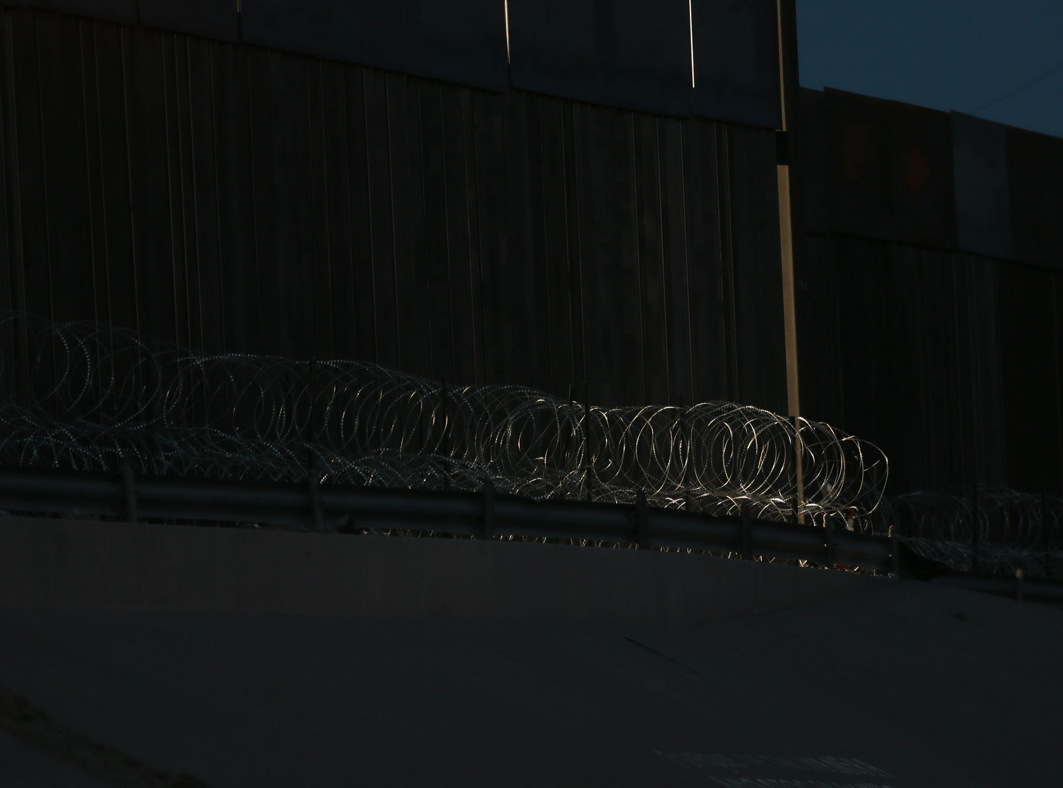 Razor wire has been added to the bollard fencing near downtown El Paso.