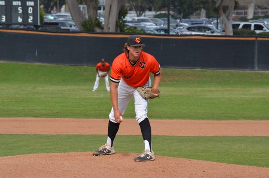 Pitcher Jeff Thoben, a Camarillo High graduate, is one of the valuable members of a deep bullpen that the Ventura College baseball team will rely on this weekend in a best-of-three playoff series against Long Beach City.