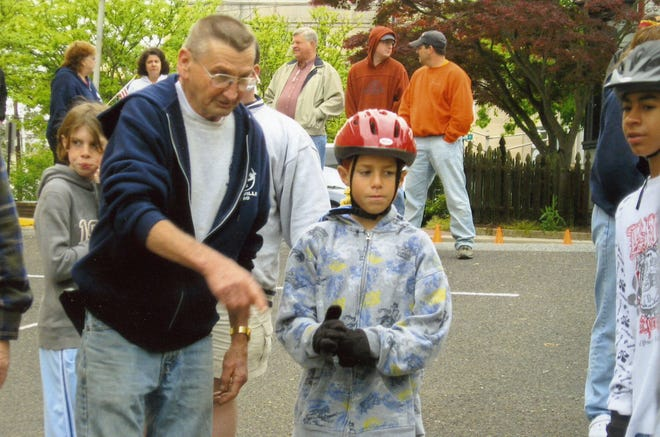"""Bill Meischke, left, started the Millville Elk's Donald """"Ducky"""" Sharp Youth Week festivities 25 years ago. The event brings kids in grades 1 through 6 from across Millville different competitions across the city."""