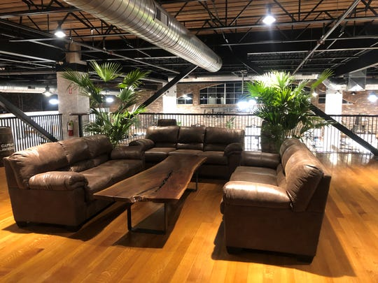 The lounge area at DeCicco & Sons in Somers.