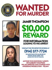 Yonkers police are offering $10,000 for the information leading to the arrest of Jamir Thompson.