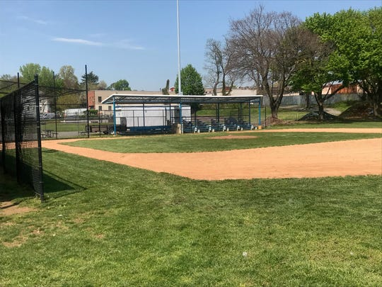 One of the fields at Mount Vernon's Brush Park that will get a touch up thanks to a $50,000 grant from Scotts and Major League Baseball