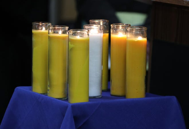 The Yom HaShoah commemoration at the Rockland County courthouse May 2, 2019.