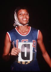 Wilma Rudolph during the Summer Olympics in Rome in Aug. 1960, where she won the 100 meter and 200 meter sprints.