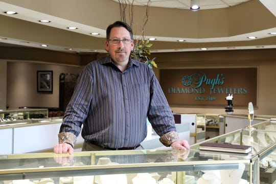 Patrick Pugh, owner of Pugh's Diamond Jewelers, was a partner in the business his father founded for 35 years. He took sole ownership in 2011. Pugh's has been in business for 70 years.
