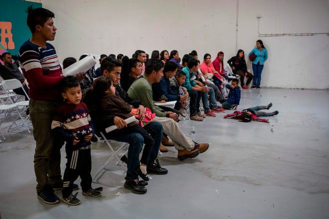 Migrant children from different Latin American countries wait to make travel arrangements at the Casa del Refugiado, or The House of Refugee, a new center opened by the Annunciation House to help the large flow of migrants being released by the United States Border Patrol and Immigration and Customs Enforcement in El Paso, Texas, on April 24, 2019.