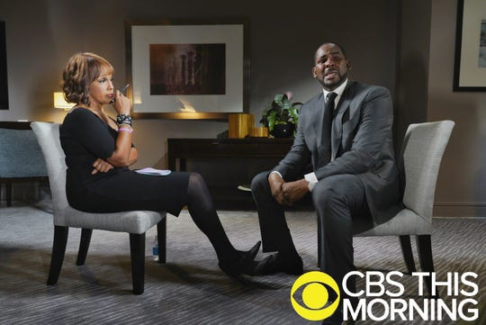 """""""CBS This Morning"""" co-anchor Gayle King, left, drew praise for her much-watched interview with embattled R&B singer R. Kelly."""