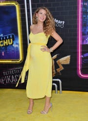 "US actress Blake Lively attends the premiere of ""Pokemon Detective Pikachu"" at Military Island - Times Square on May 02, 2019 in New York City."