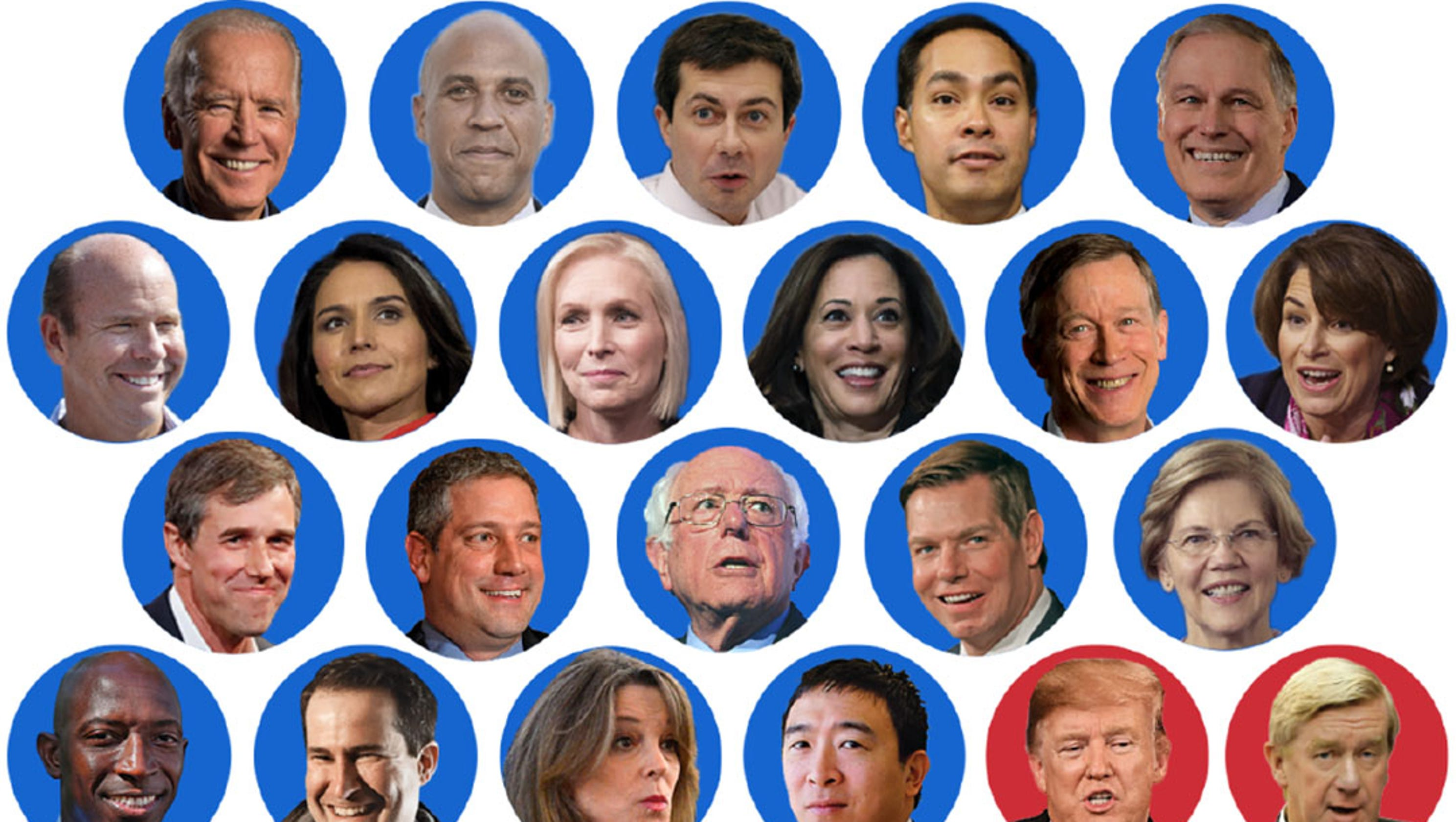 Who made it into the first 2020 Democratic primary debate?