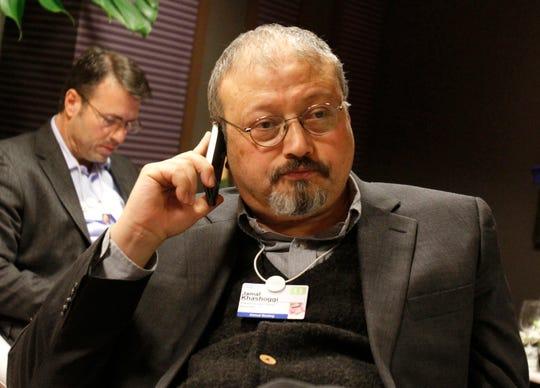 Saudi Arabian journalist Jamal Khashoggi on Jan. 29, 2011, in Davos, Switzerland.