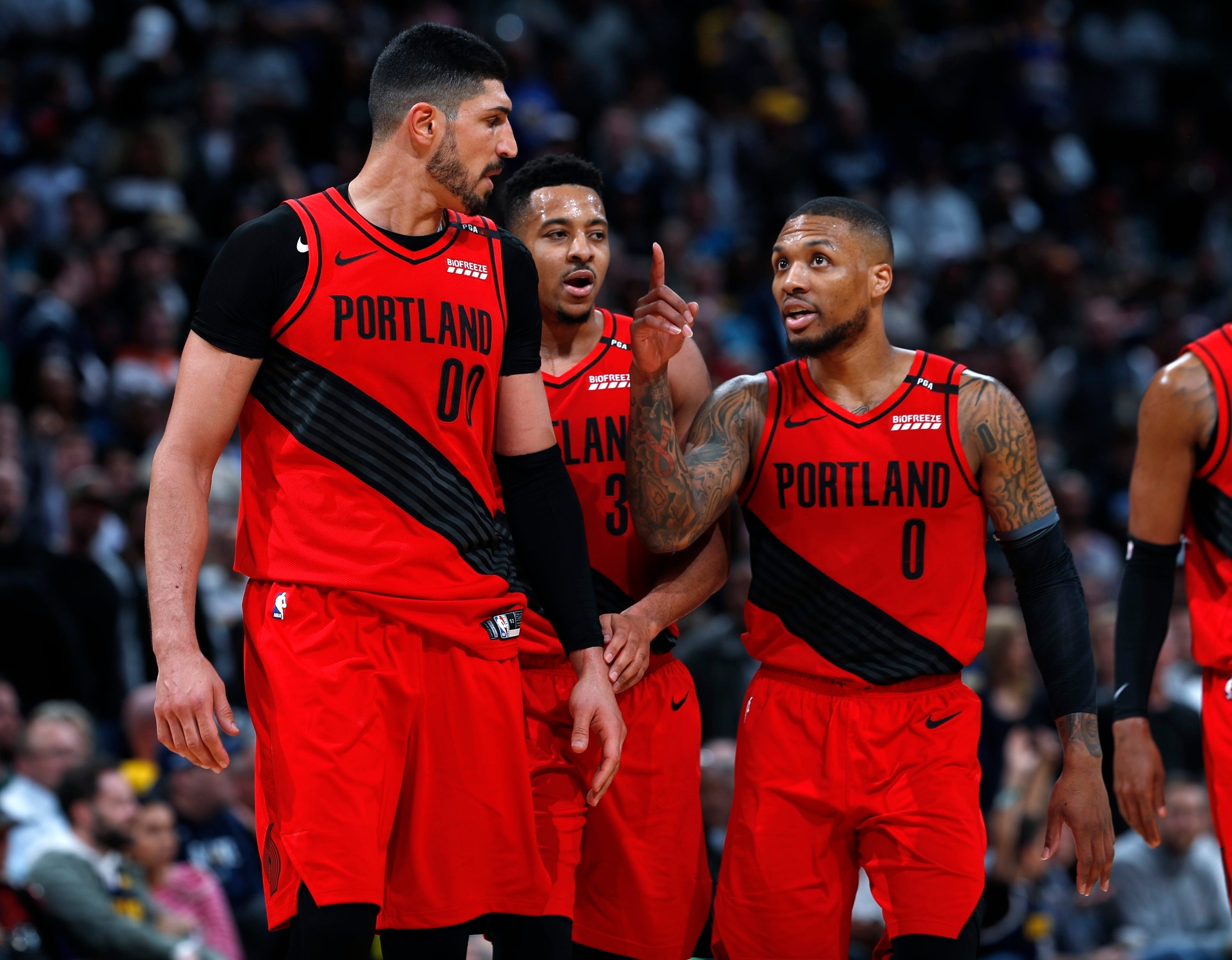 9b300274816 Trail Blazers outlast Nuggets in record-tying 4-overtime thriller to take 2- 1 lead