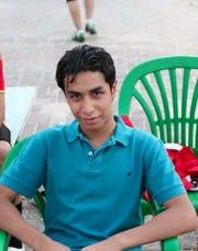 Teenage Ali al-Nimr in a family photo in Saudi Arabia.