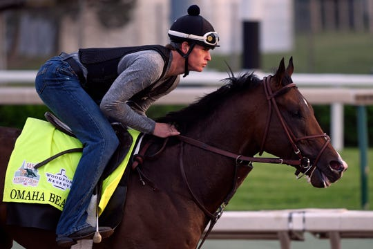 Omaha Beach was scratched from the Kentucky Derby with an entrapped epiglottis.