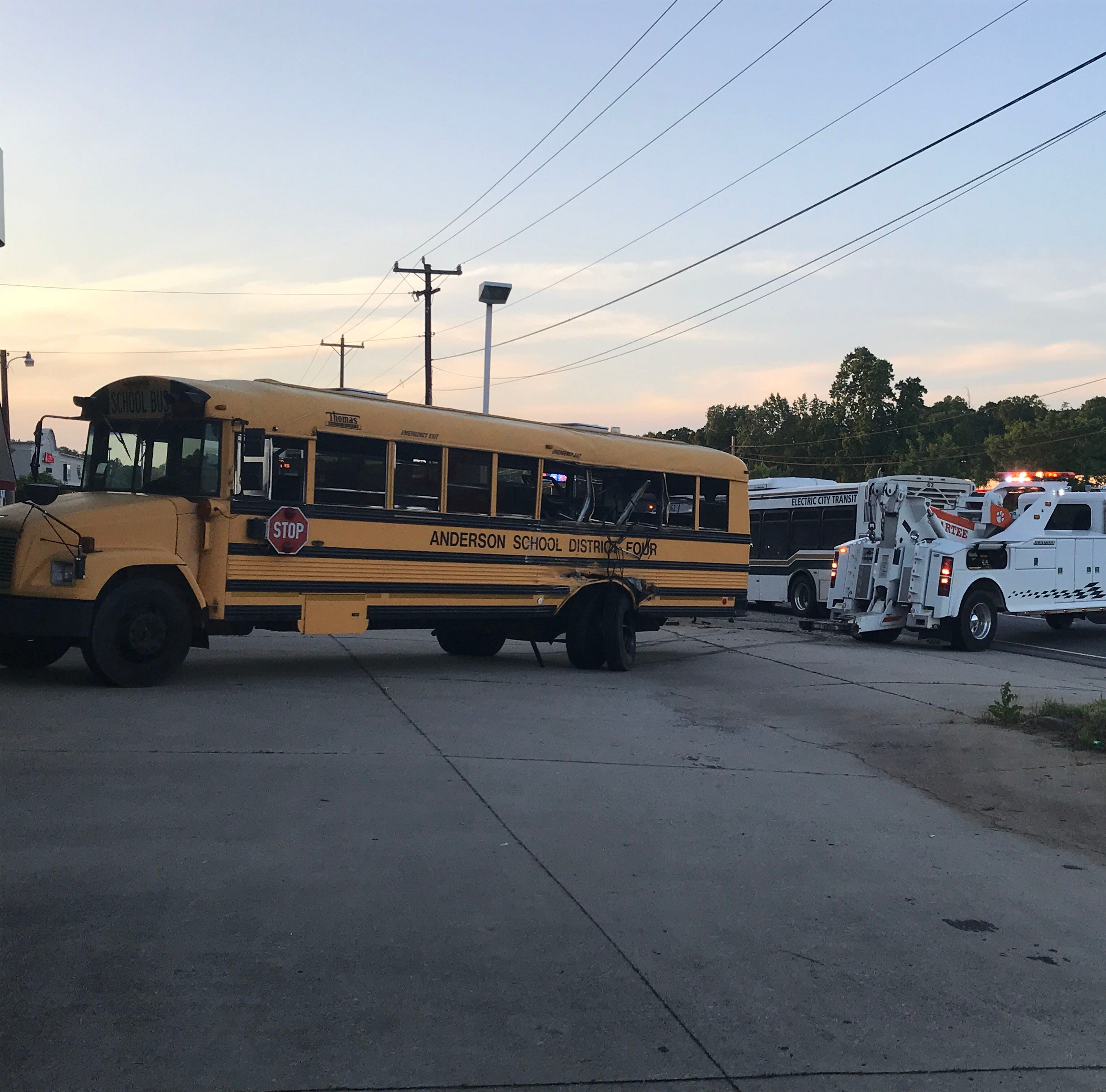 School bus carrying Pendleton HS track team involved in wreck, 4 students injured
