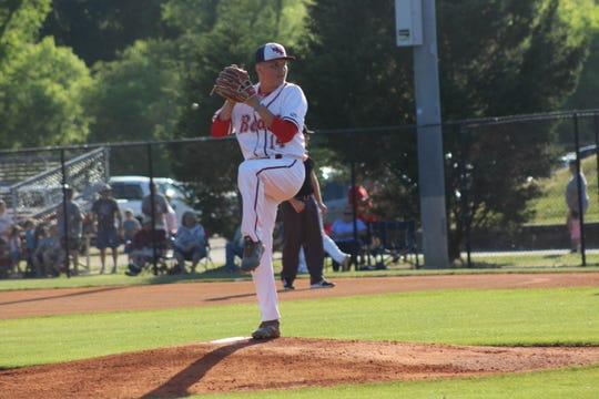 Josh Davis gets ready to deliver the pitch.