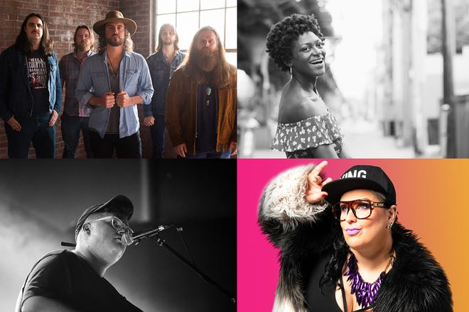 Clockwise from top left: The Vegabonds, Nikki Morgan, Sarah Potenza and Michigander are among the latest additions to the Mile of Music lineup.
