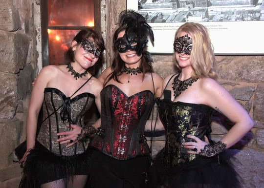 A scene from Party at the Pen: The Masquerade at Eastern State Penitentiary in Philadelphia in 2016.
