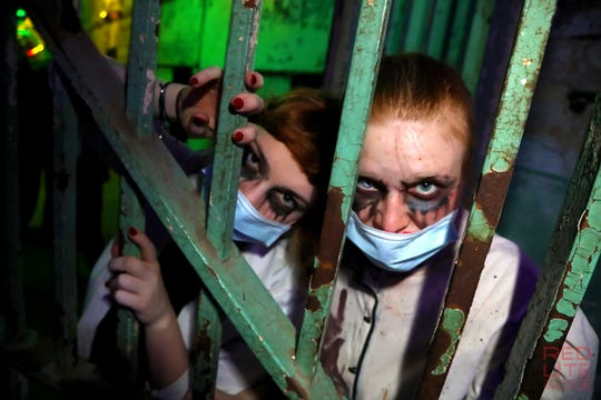 A scene from Party at the Pen: The Masquerade at Eastern State Penitentiary in Philadelphia in 2017.