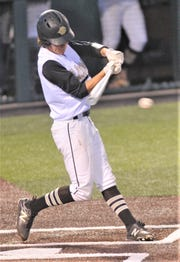 Clyde's Christian Deal hit a two-run single to give the Bulldogs a 5-4 lead in the bottom of the sixth inning. It proved to be the game-winning hit in a 5-4 win over Bangs in Game 2 of the series. Clyde, which won the opener 6-3, swept the best-of-three Region I-3A series Thursday, May 2, 2019, at ACU's Crutcher Scott Field.