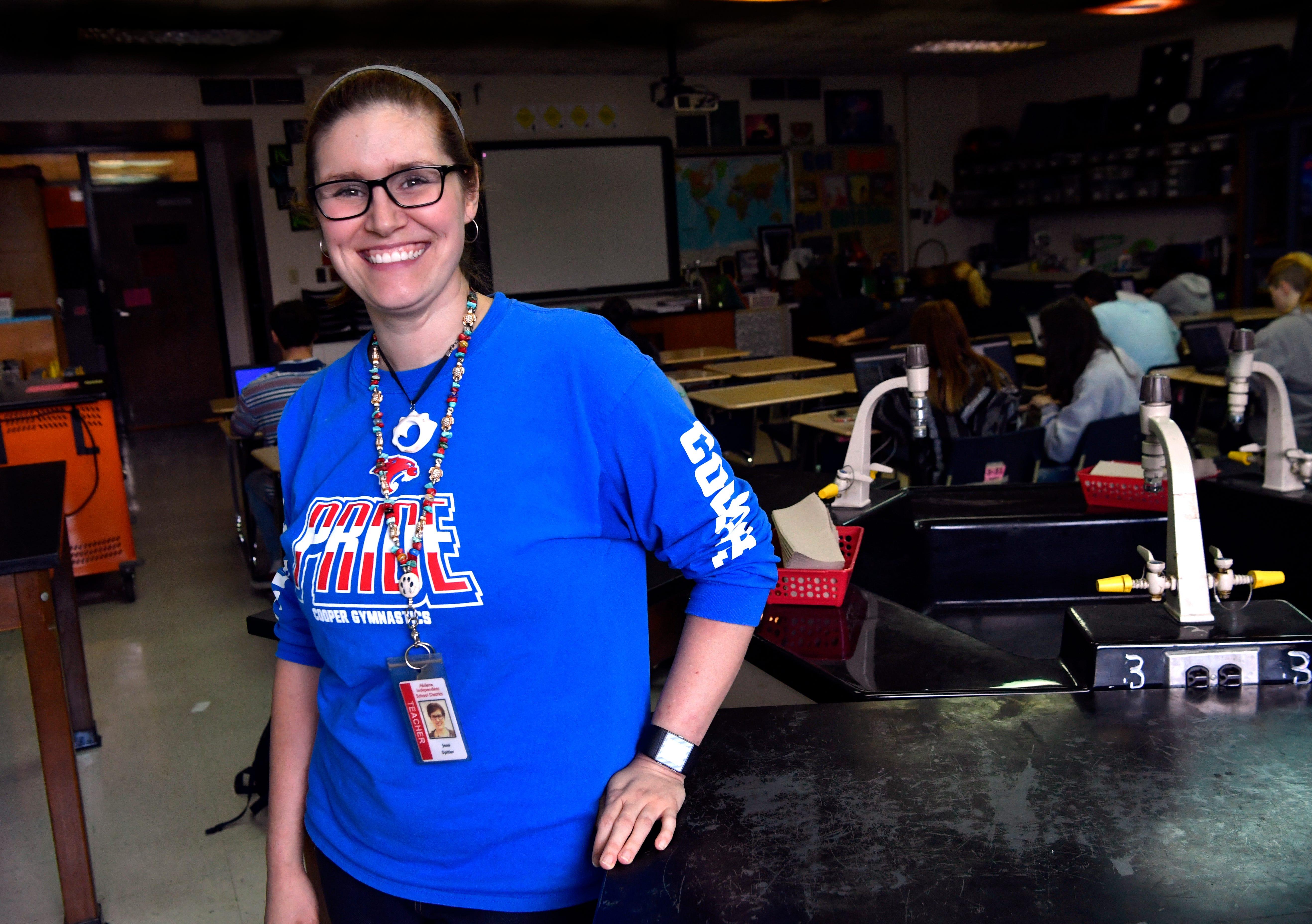 Cooper High School science teacher Jessi Spitler.