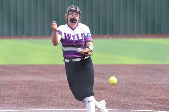 Wylie's Bailey Buck (4) has hit a walk-off home run to win Game 2 in each of the first two rounds. The junior also earned the win in both games of the area series against El Paso Eastwood.
