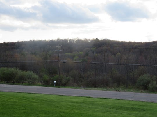 The land on which the Bunn Hill Road apartment complex is planned.
