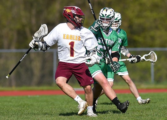 Section 4's all-time leading scorer in boys lacrosse, Andy Davis, during Whitney Point vs. Seton Catholic Central, Section 4 boys lacrosse, May 2, 2019.