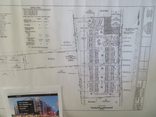 Layout drawings of the planned Bunn Hill  Road housing development