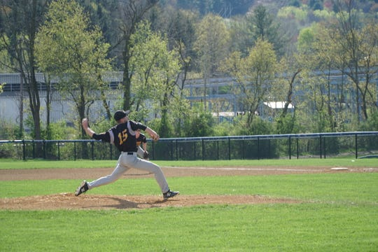 Windsor's Alek Conrad throws a pitch during the first inning of Thursday's game at Susquehanna Valley.